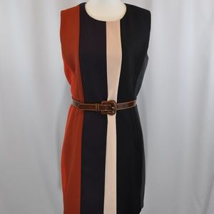 Narciso Rodriguez Wool Striped Dress - Size M/6.